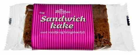 Bilde av Berthas sandwichkake sjoko og vanilje.