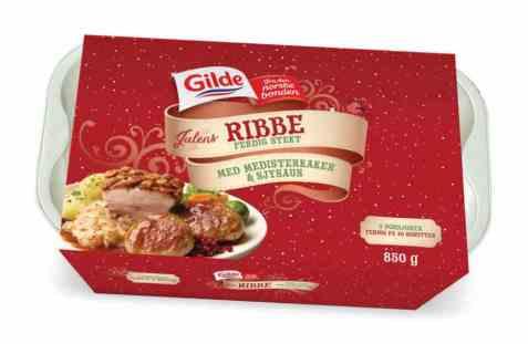 Bilde av Gilde ribbe stekt med tilbehør.