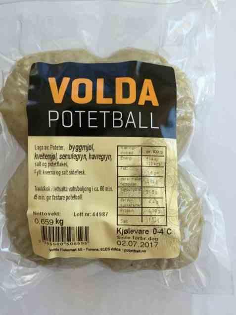 Bilde av Volda potetball.