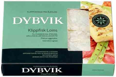 Bilde av Dybvik klippfisk loins uten skinn og ben 400 gr.