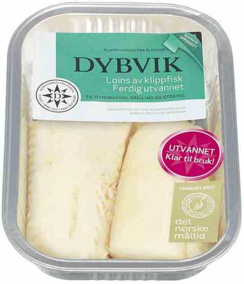 Bilde av Dybvik klippfisk loins ferdig utvannet 300 gr.