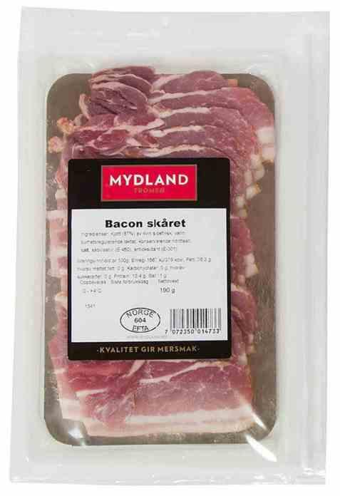 Bilde av Mydland bacon skivet 190 gr.