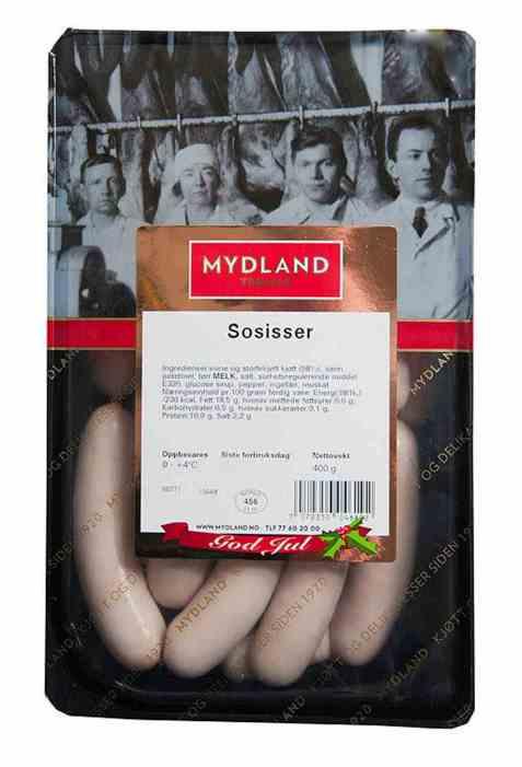 Bilde av Mydland sossiser 400 gr.