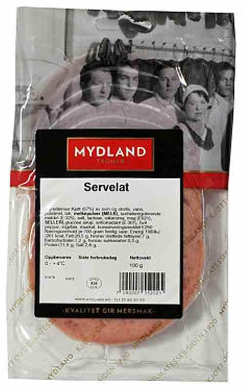 Bilde av Mydland servelat 100 gr.