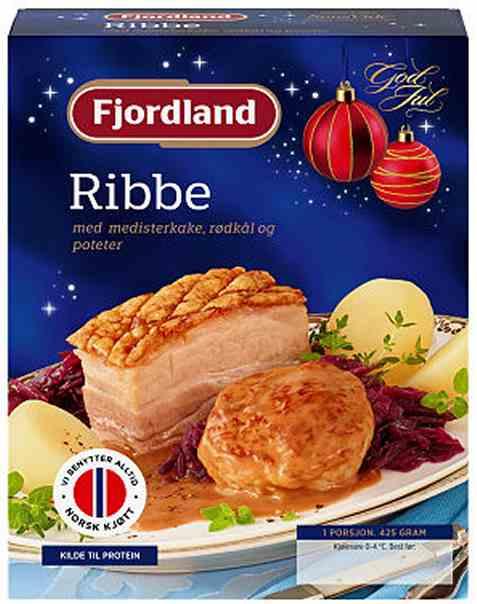 Bilde av Fjordland ribbe med medisterkake.