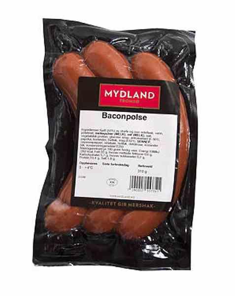 Bilde av Mydland baconpølse 3pk.
