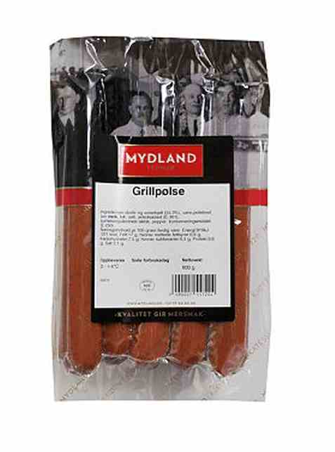 Bilde av Mydland grillpølser 600 gr.