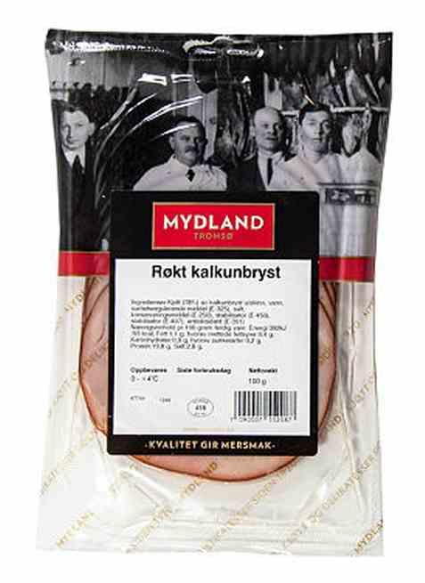 Bilde av Mydland røkt kalkunbryst 100 gr.