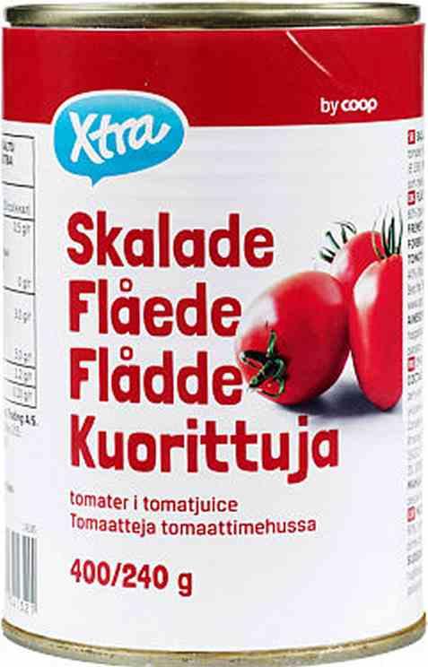 Bilde av Coop Xtra flådde tomater i tomatjuice.