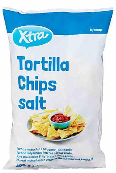 Bilde av Coop Xtra tortilla chips salt.