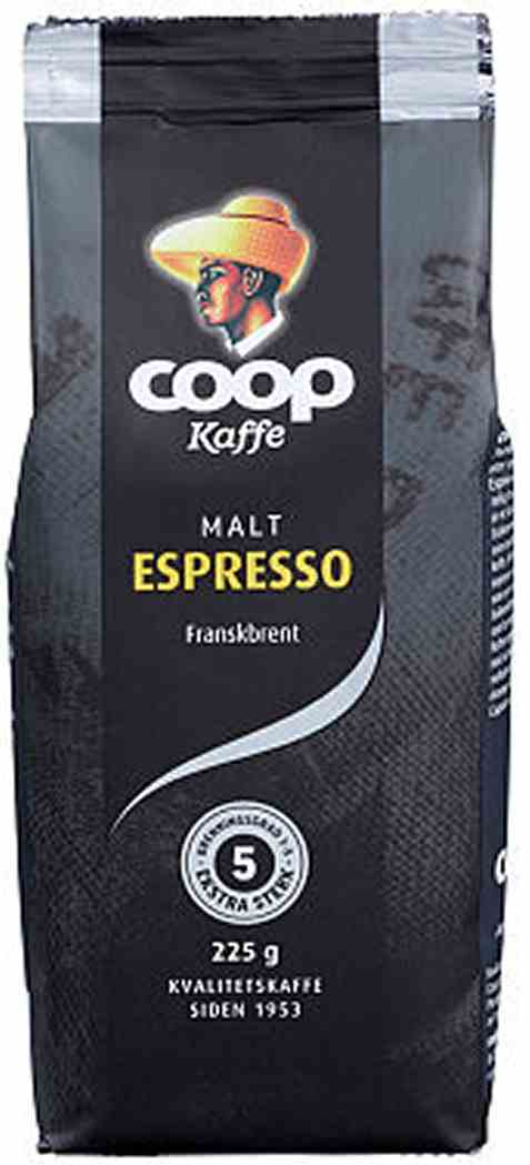 Bilde av Coop Kaffe Espresso Malt 225g.