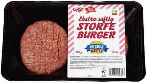 Bilde av Gilde storfe burger 2x130gr.