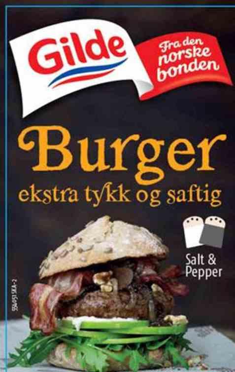 Bilde av Gilde burger ekstra tykk og saftig.