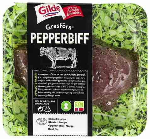 Bilde av Gilde grasfora storfe pepperbiff.