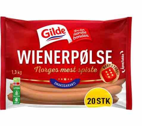 Bilde av Gilde Wienerpølser 1,3 kg.