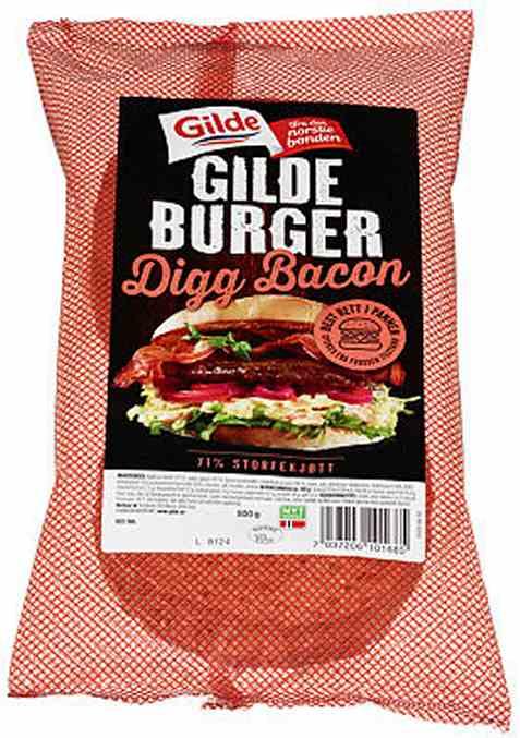 Bilde av Gildeburger digg bacon.