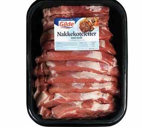 Bilde av Gilde nakkekoteletter med skalk 2kg.