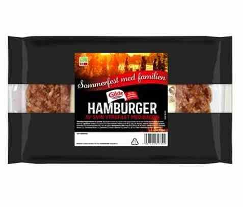Bilde av Gilde Hamburgere av svin med bacon.