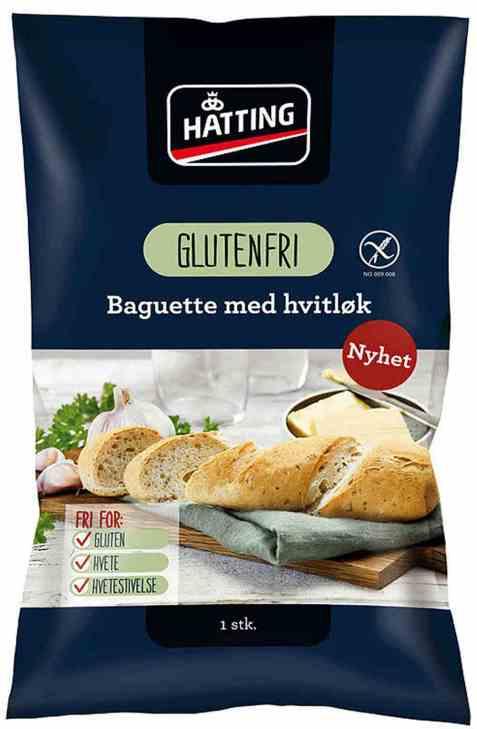 Bilde av Hatting Glutenfrie hvitløksbaguetter 105gr.
