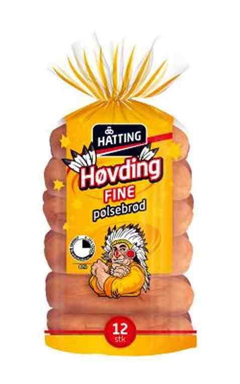 Bilde av Hatting Høvding fine pølsebrød.