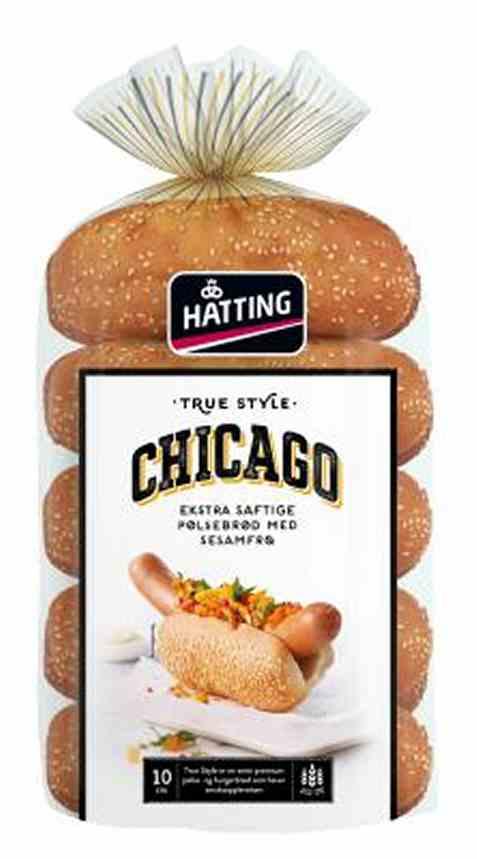 Bilde av Hatting True Style Chicago pølsebrød 500gr.
