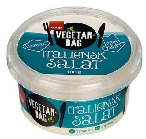Bilde av Coop vegetardag italiensk salat 180gr.
