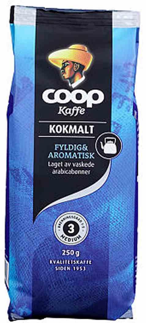 Bilde av Coop kaffe blå kok malt 250gr.