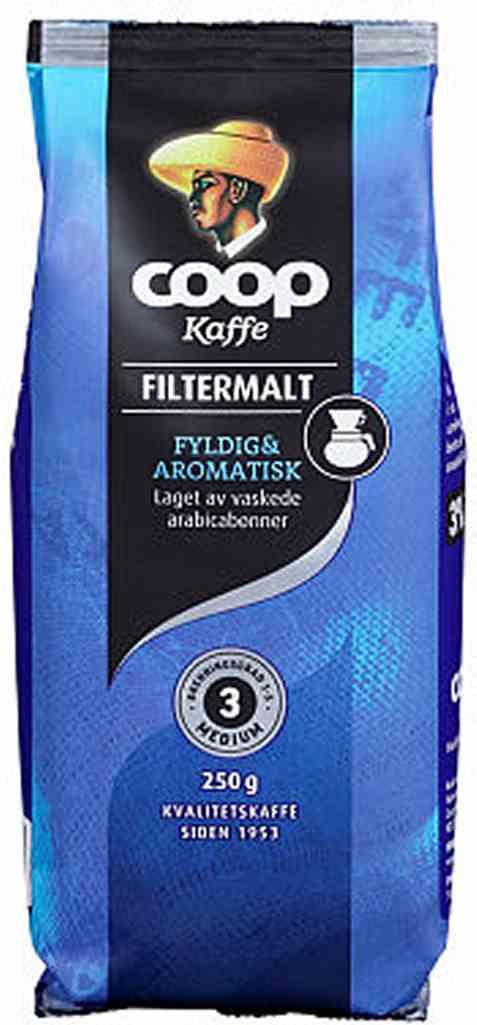 Bilde av Coop kaffe blå filter 250gr.