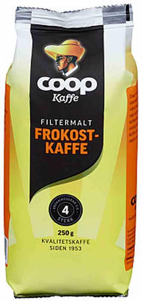 Bilde av Coop kaffe frokost filter 250gr.
