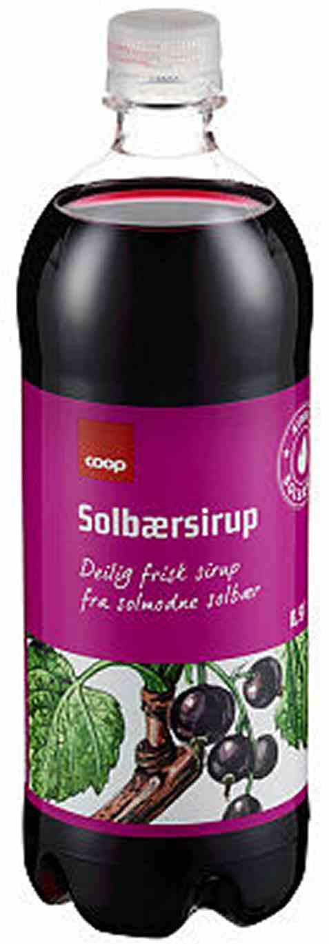 Bilde av Coop solbærsirup 0,9l.