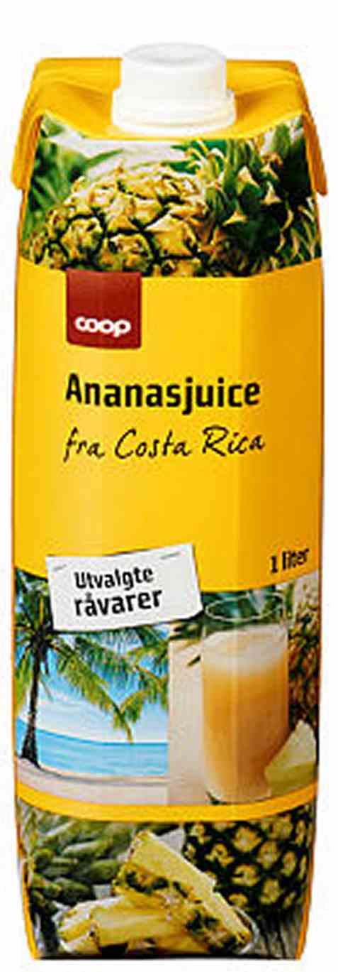 Bilde av Coop ananasjuice 1liter.