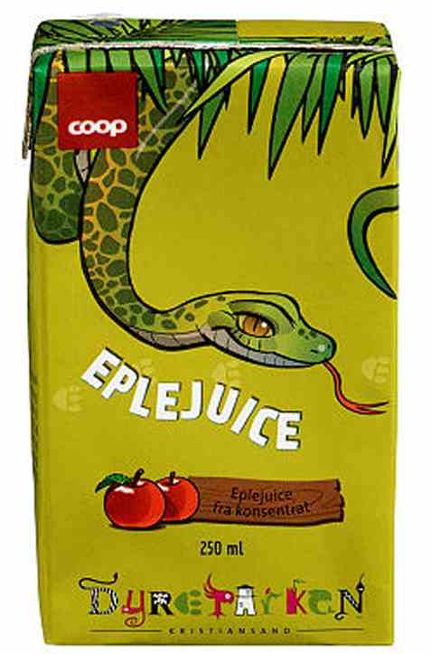 Bilde av Coop dyreparken eplejuice 250ml.