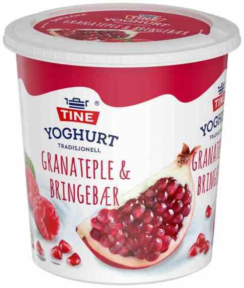 Bilde av TINE Yoghurt Granateple & Bringebær.