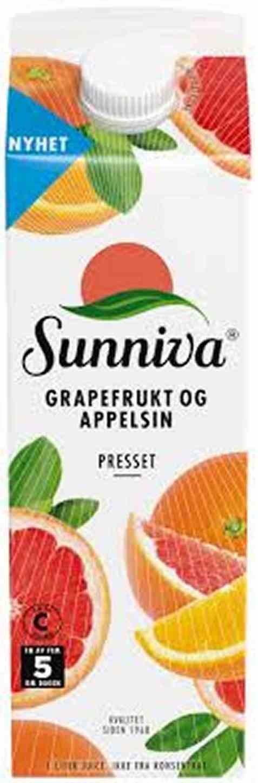 Bilde av Tine Sunniva Presset Grapefrukt og Appelsin.