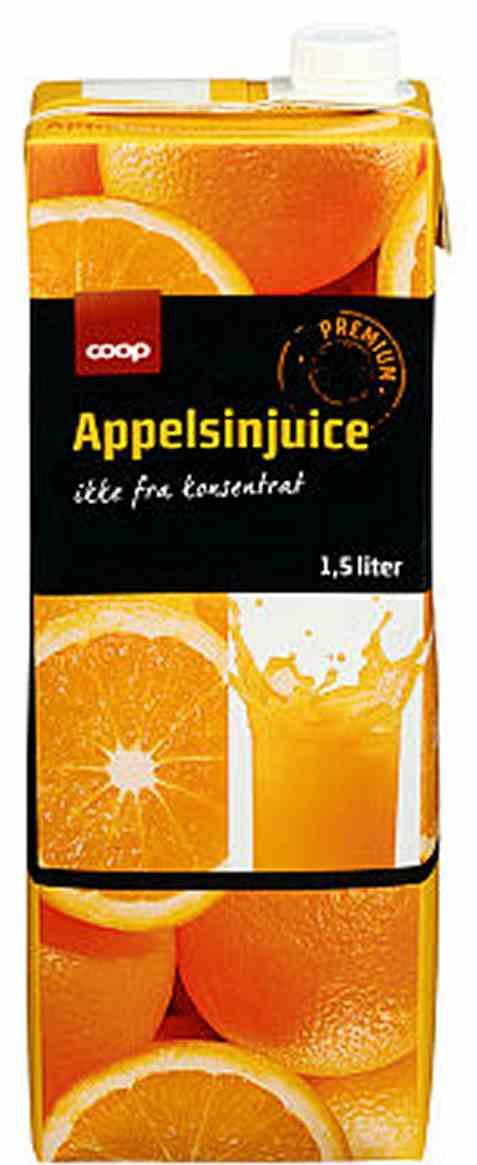 Bilde av Coop appelsinjuice premium 1,5l.