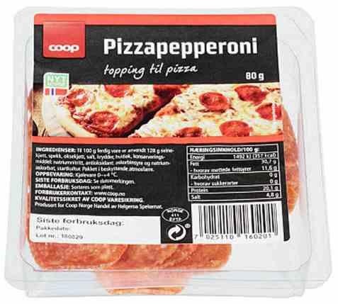 Bilde av Coop pizzapepperoni 80g.