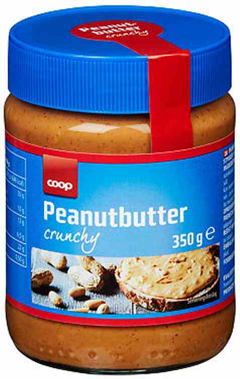 Bilde av Coop Peanutbutter crunchy 350g.