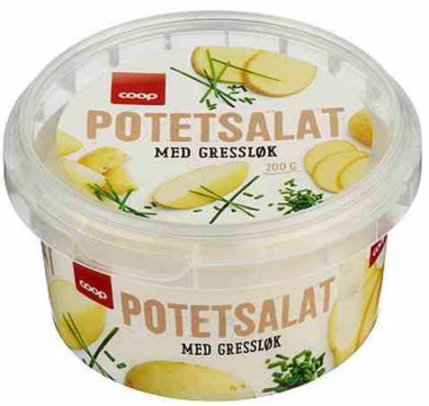 Bilde av Coop potetsalat med gressløk.