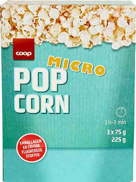 Bilde av Coop micropopcorn 225g.