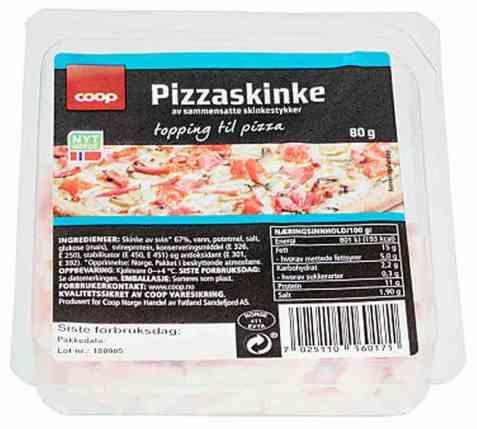 Bilde av Coop pizzaskinke 80g.