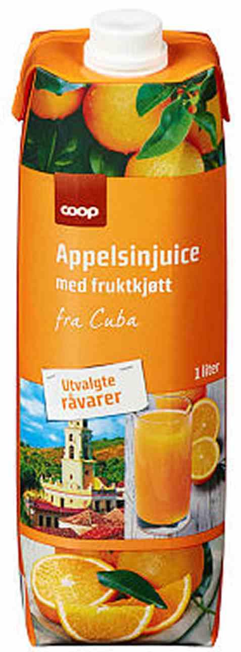 Bilde av Coop appelsinjuice cuba 1l.