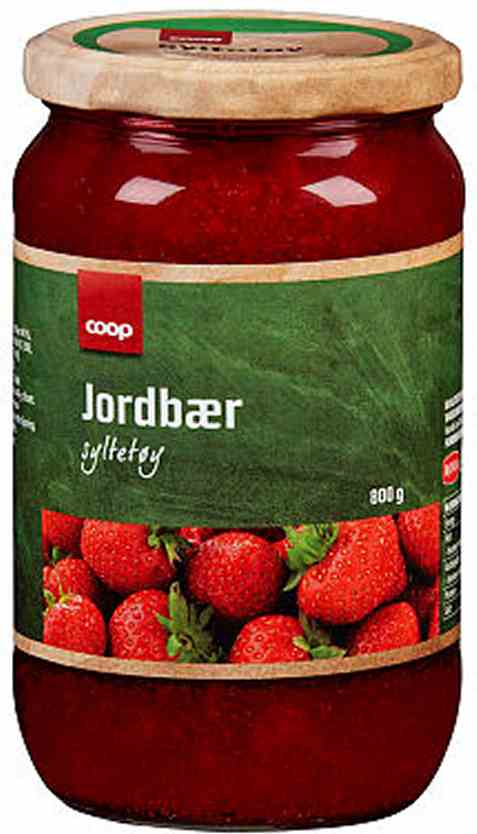 Bilde av Coop jordbærsyltetøy 800gr.
