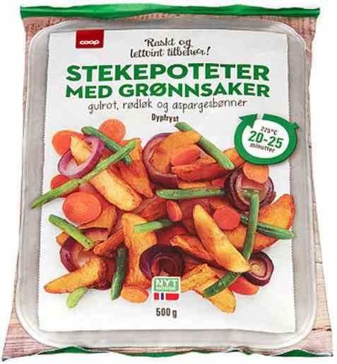 Bilde av Coop stekepoteter med grønnsaker 500g.