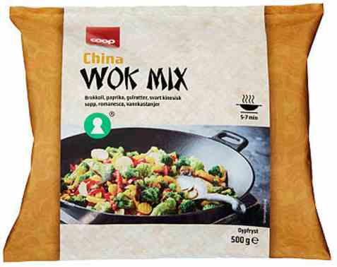 Bilde av Coop china wok mix 500g.