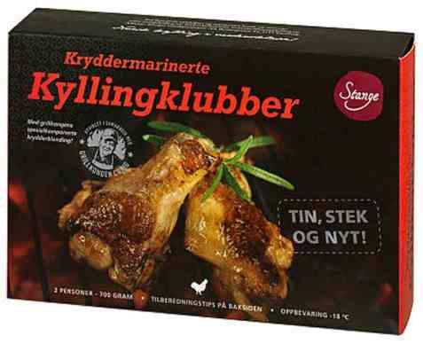 Bilde av Stange kryddermarinerte kyllingklubber fryst.