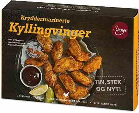 Bilde av Stange kryddermarinerte kyllingvinger fryst.