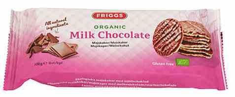 Bilde av Friggs maiskaker melkesjokolade.