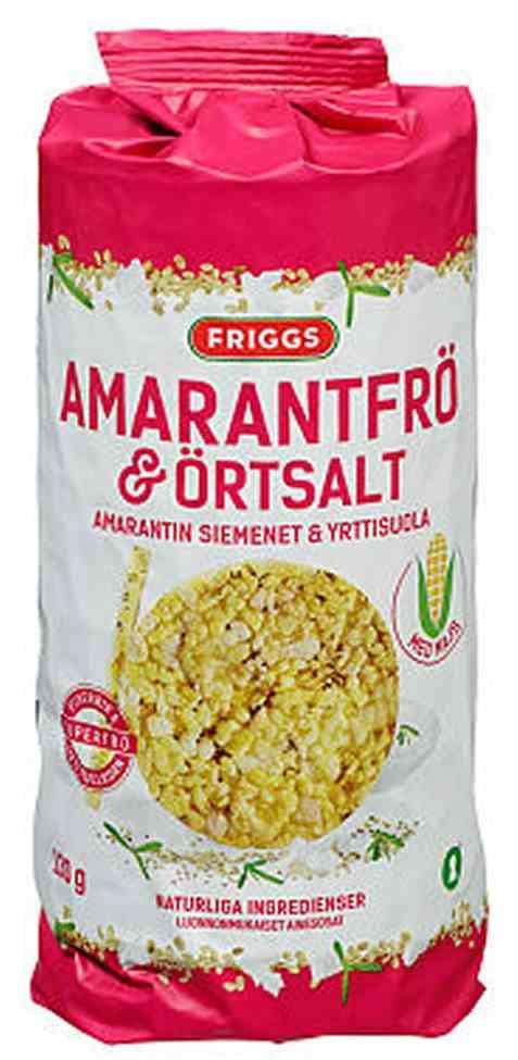 Bilde av Friggs maiskaker amarantfrø og urtesalt.