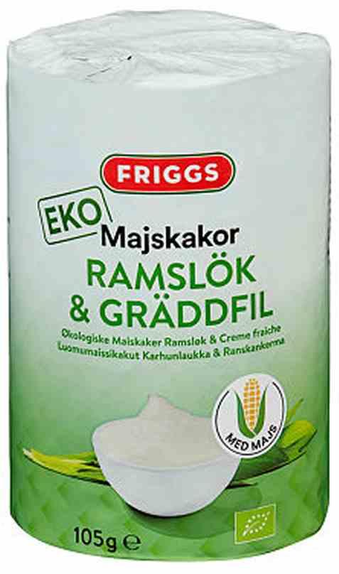 Bilde av Friggs maiskaker fløte og ramsløk.