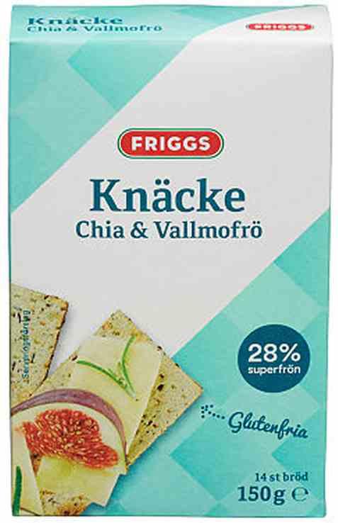 Bilde av Friggs knekkebrød chia og valmuefrø.